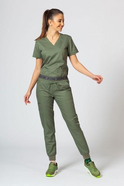 kalhoty-1-1 Dámské kalhoty Maevn EON Sporty & Comfy jogger olivkové