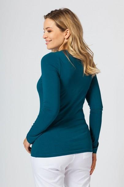 tricka-2 Dámské tričko Malfini s dlouhým rukávem karaibsky modré