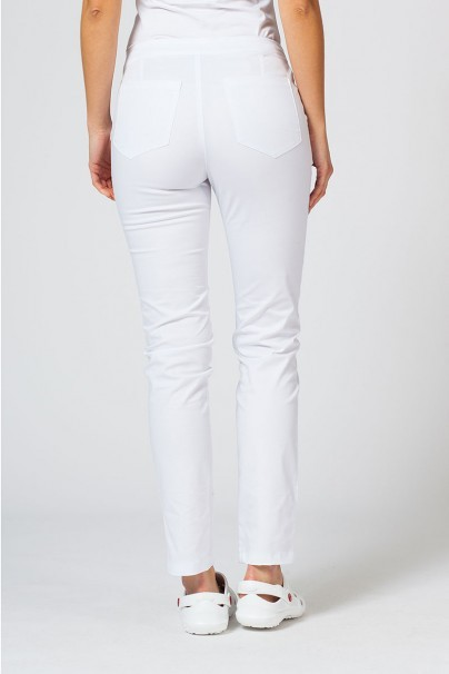 kalhoty-1-1 Dámské lékařské kalhoty Slim (elastic) Sunrise Uniforms bílé