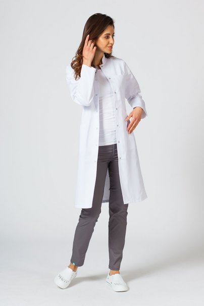 fartuchy-medyczne-damskie Lékařský dámský plášť F01 Sunrise Uniforms bílý