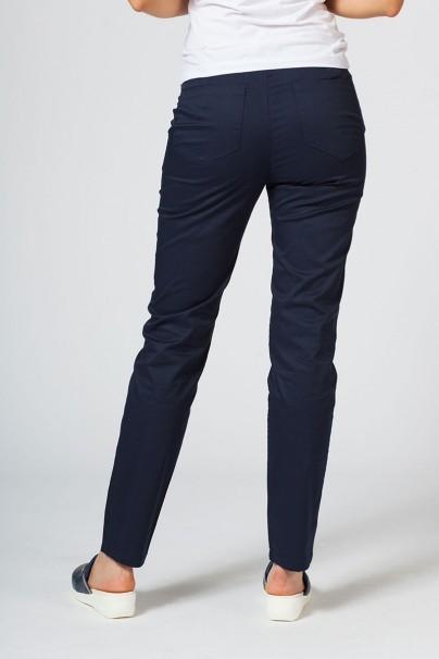 kalhoty-1-1 Dámské lékařské kalhoty Slim (elastic) Sunrise Uniforms námořnická modř