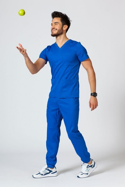 bluzy-1-1 Pánská lékařská halena Maevn Matrix Men královsky modrá