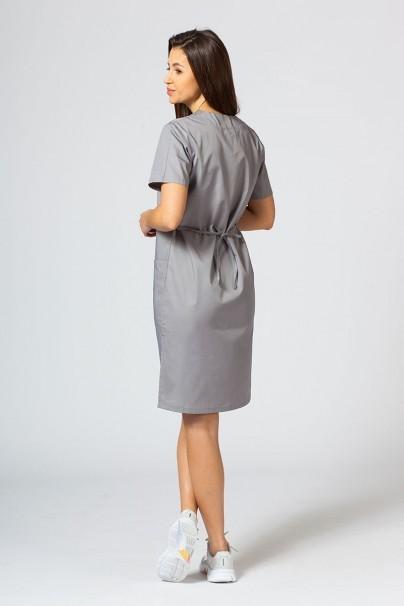 saty-1 Lékařské Jednoduché šaty Sunrise Uniforms tmavě šedé