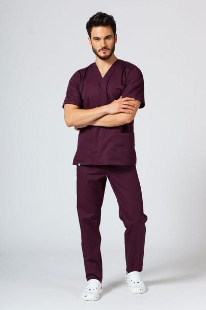bluzy-1-1 Univerzální lékařská mikina Sunrise Uniforms burgundová