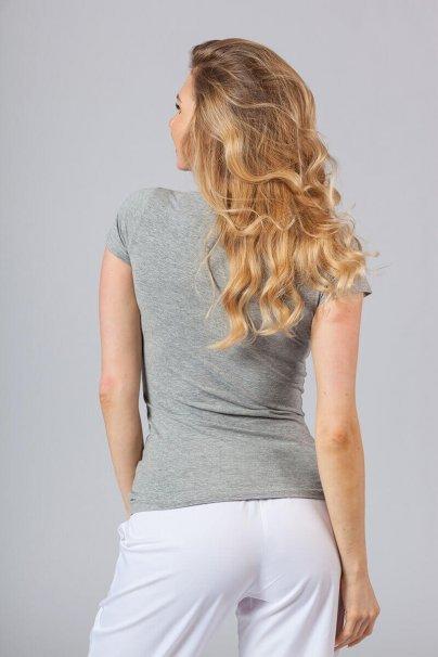 koszulki-medyczne-damskie Dámské tričko šedé