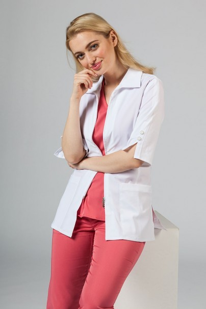 plaste-2 Dámský lékařský plášť Maevn Smart Classic bílý (elastický)