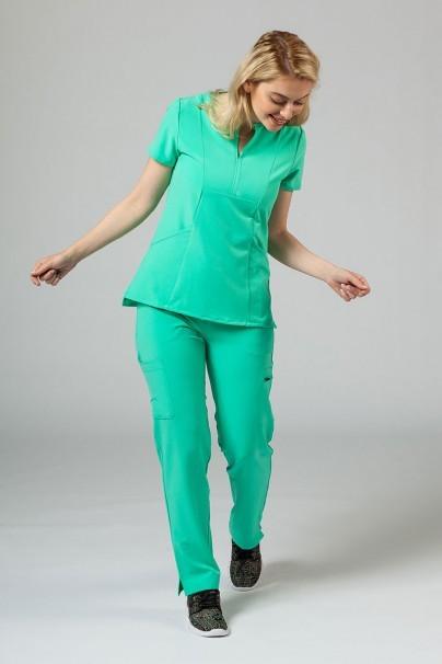 bluzy-2 Dámská halena Adar Uniforms Notched světle zelená