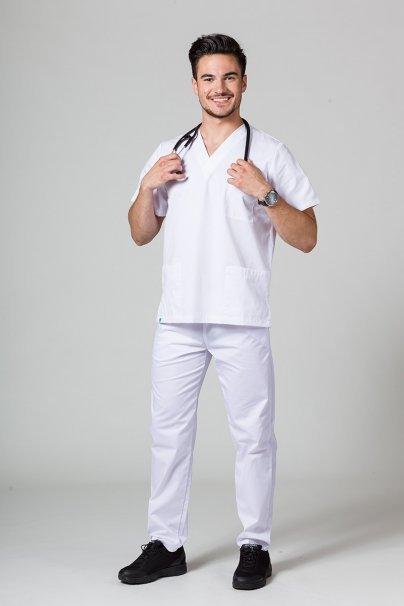 komplety-medyczne-meskie Pánská zdravotnická souprava Sunrise Uniforms bílá