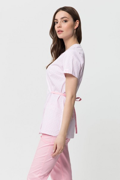 bluzy-2 Lékařská zástěra vázaná Vena Kate bílá - print small
