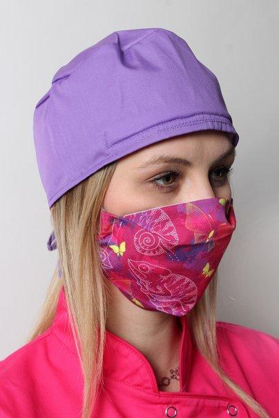 maski-ochronne Ochranná rouška pro opakované použití se stříbrnými ionty, 2 vrstvá, 100% bavlna, vzor: chameleón