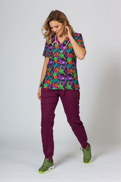 vzorovane-haleny Barevná lékařská halena Sunrise Uniforms pro ženy barevné listy