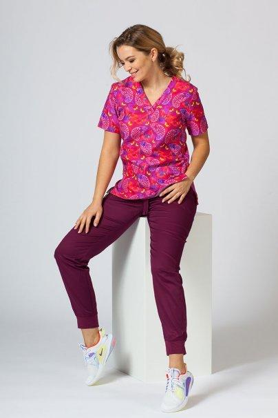 vzorovane-haleny Barevná lékařská halena Sunrise Uniforms pro ženy chameleoni
