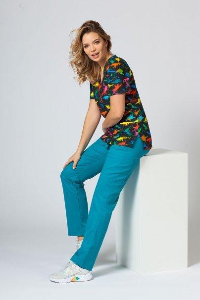 vzorovane-haleny Barevná lékařská halena Sunrise Uniforms pro ženy dinosauři