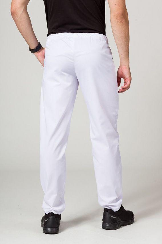 spodnie-medyczne-meskie Univerzální lékařské kalhoty Sunrise Uniforms bílé