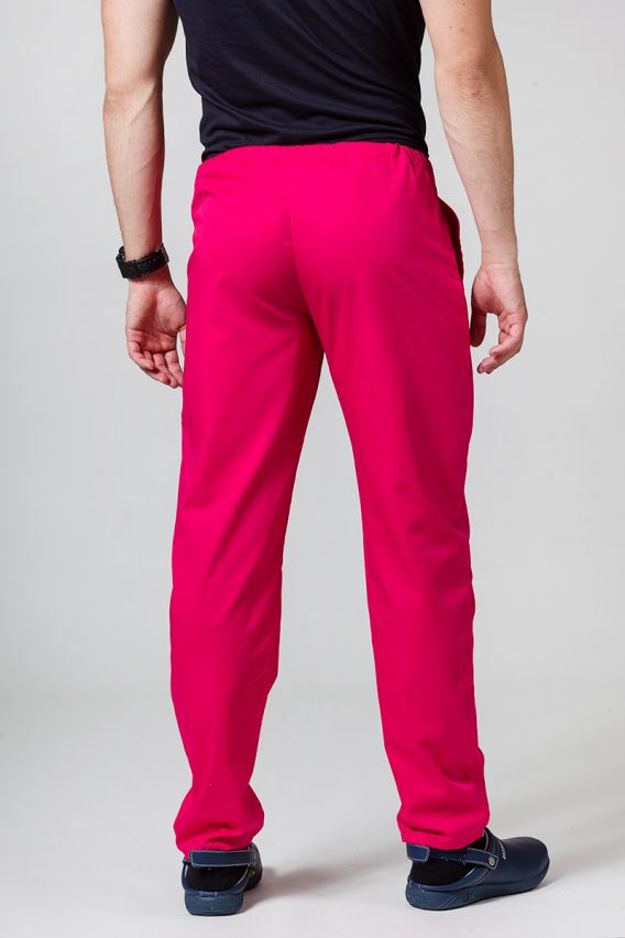 spodnie-medyczne-meskie Univerzální lékařské kalhoty Sunrise Uniforms malinové