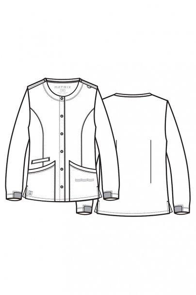 bluzy-medyczne-damskie Dámská halena na zapínání Maevn Matrix šedá