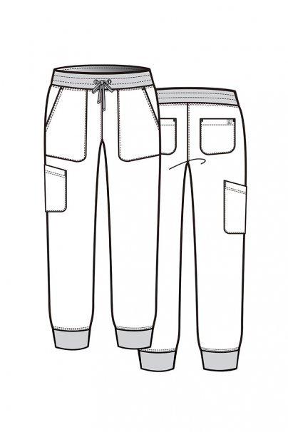 spodnie-medyczne-damskie Dámské kalhoty Maevn Matrix Impulse Jogger olivové