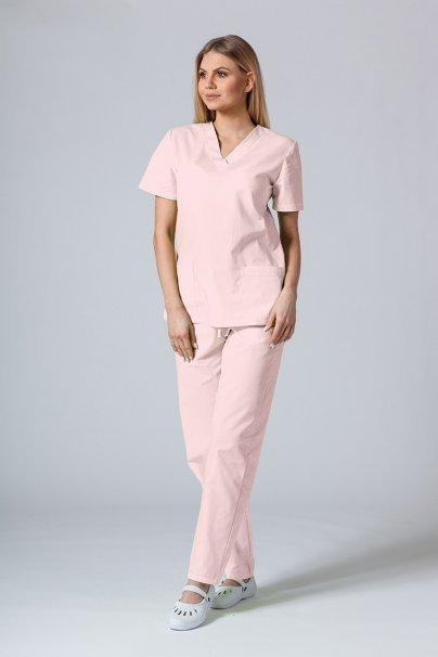 bluzy-medyczne-damskie Lékařská halena sunrise uniforms pudrová růžová