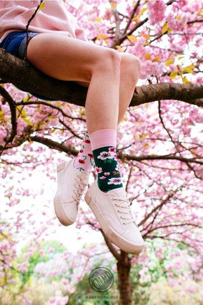 skarpetki Barevné ponožky Cherry Blossom - Many Mornings