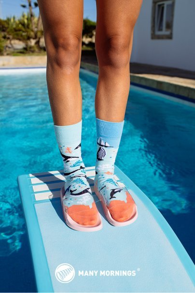 skarpetki Barevné ponožky Ocean Life - Many Mornings