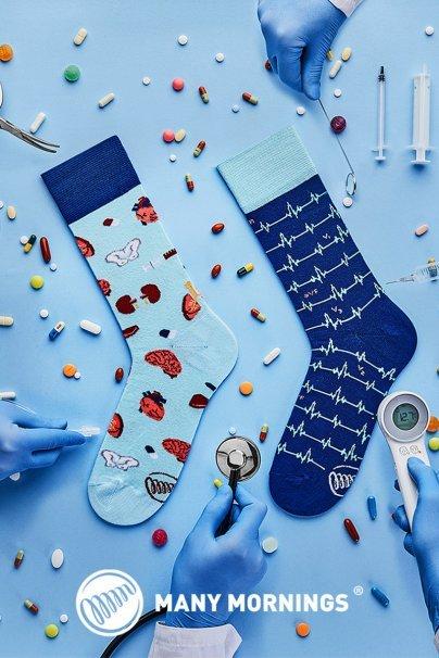 ponozky Barevné ponožky dr Sock - Many Mornings
