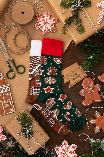 ponozky Barevné ponožky Gingerbread Man - Many Mornings