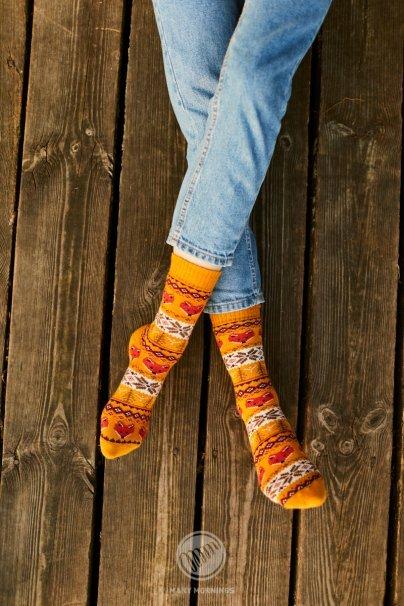 ponozky Barevné ponožky Warm Fox (teplé) - Many Mornings