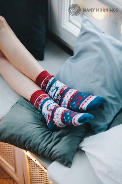 ponozky Barevné ponožky Warm Rudolph (teplé) - Many Mornings