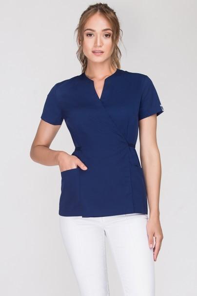 bluzy-2 Zdravotnická / kosmetická zástěra na zapínání Vena Spa 4 námořnická modř