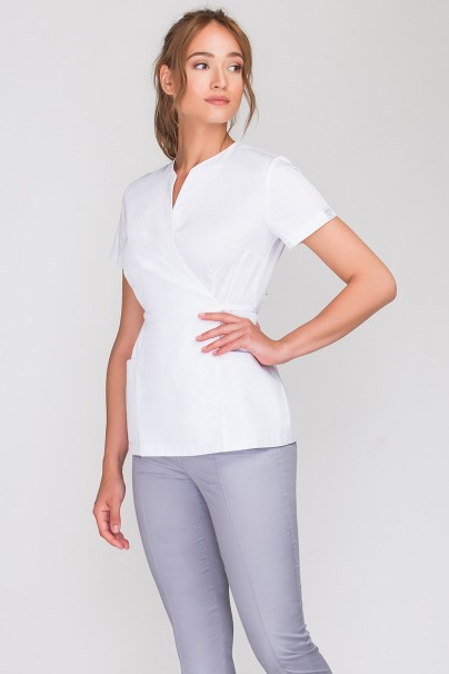bluzy-2 Zdravotnická / kosmetická zástěra na zapínání Vena Spa 4 bílá