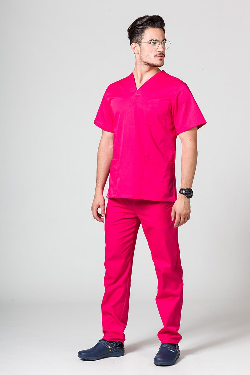 Pánská zdravotnická souprava Sunrise Uniforms malinová