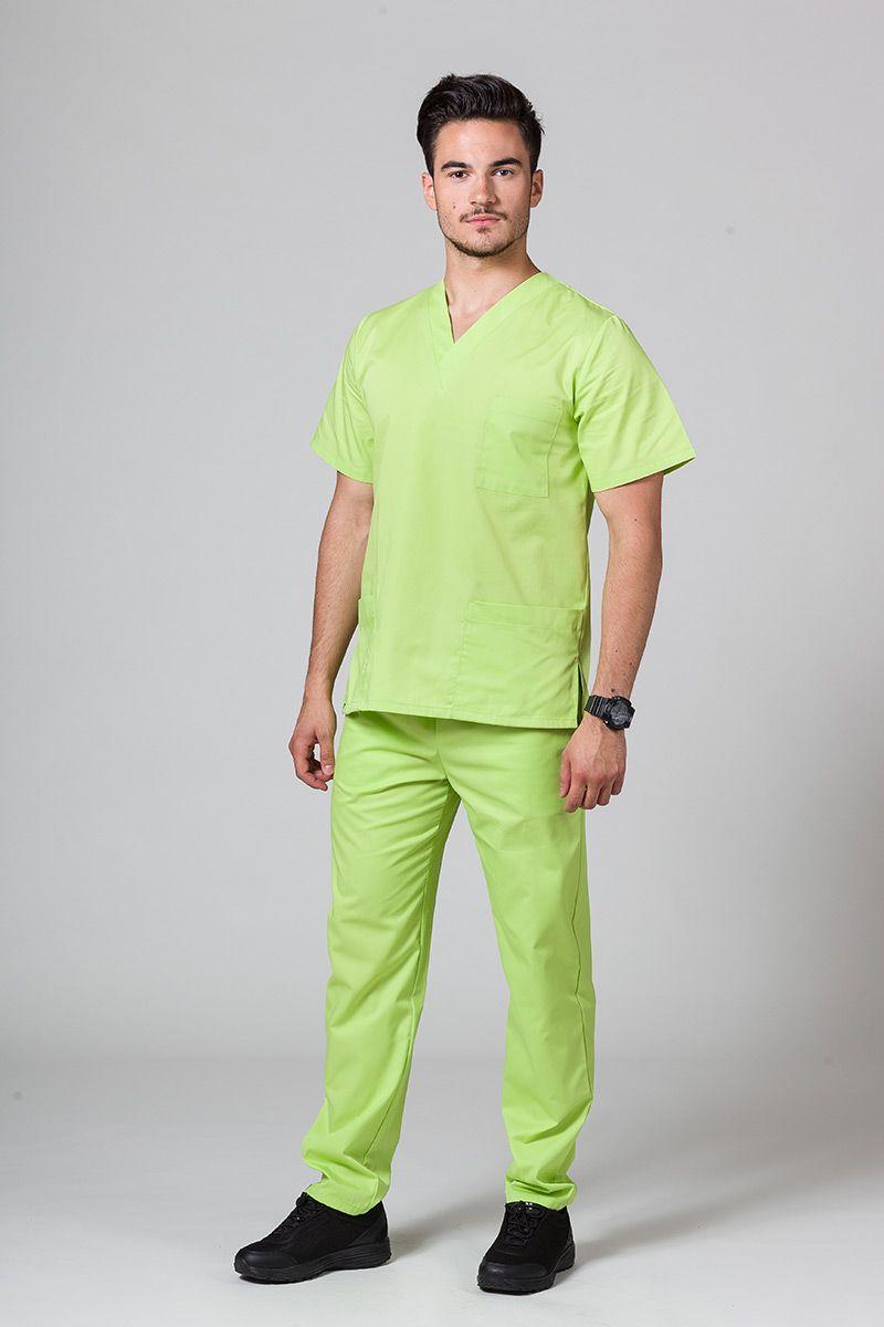 Pánská zdravotnická souprava Sunrise Uniforms limetková