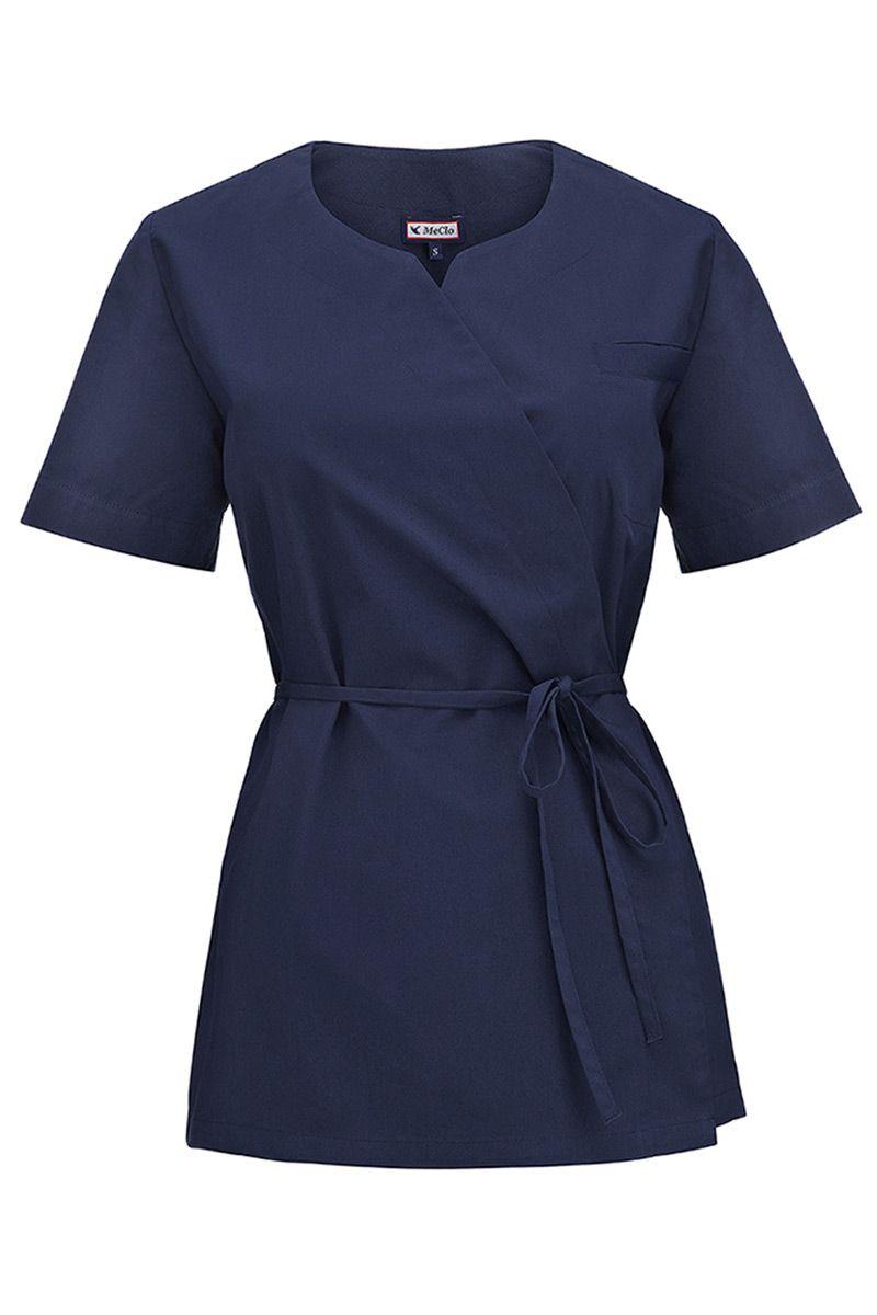 Zdravotnická / kosmetická dámská halena z vázáním MeCleo námořnická modř