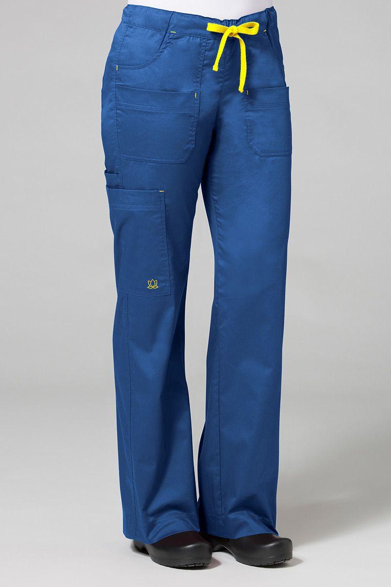 Lékařské kalhoty Maevn Blossom (elastic) královsky modré