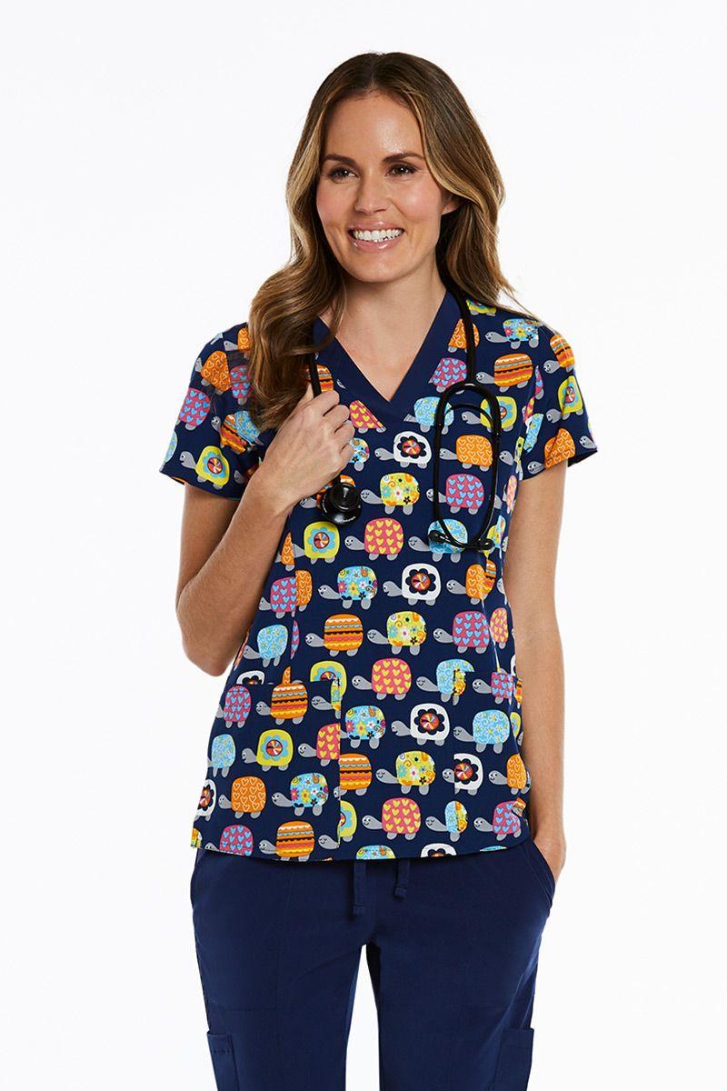 Lékařská halena Maevn Prints barevné želvy