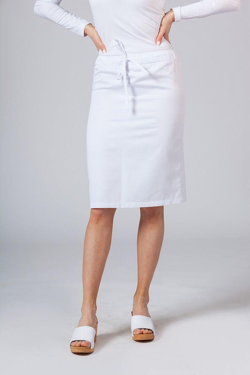 Dlouhá zdravotnická sukně Sunrise Uniforms bílá