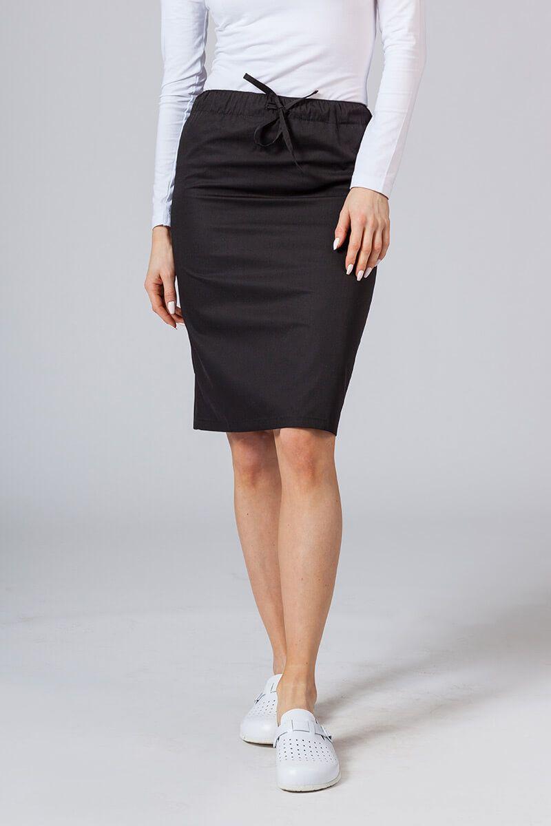 Dlouhá zdravotnická sukně Sunrise Uniforms černá