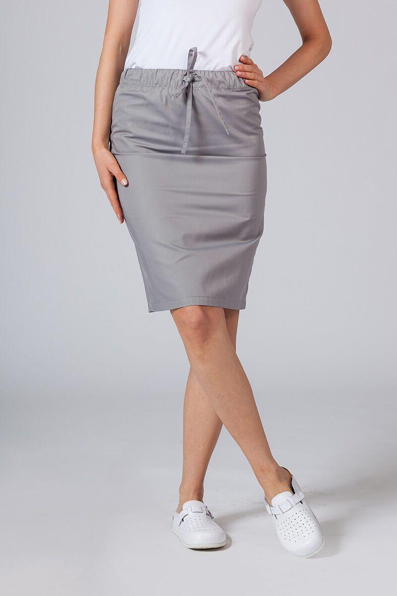 Dlouhá zdravotnická sukně Sunrise Uniforms šedá