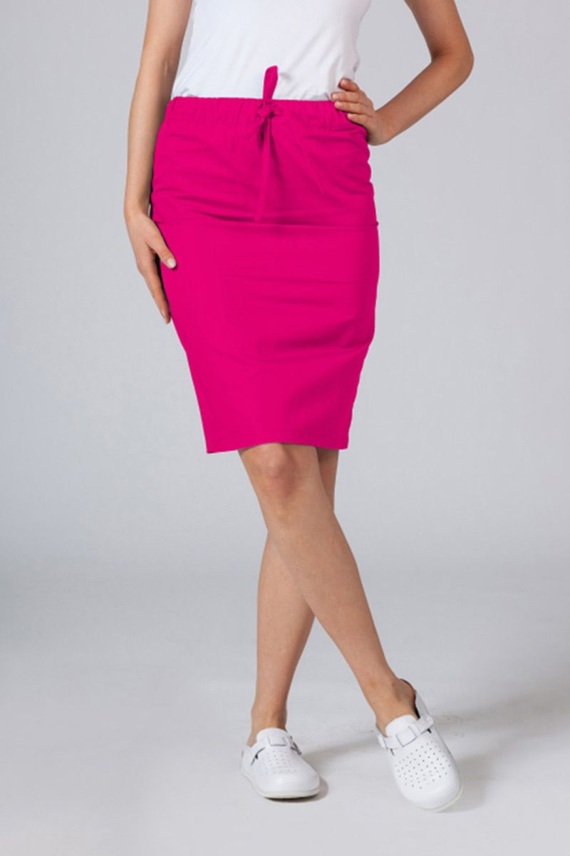 Dlouhá zdravotnická sukně Sunrise Uniforms malinová