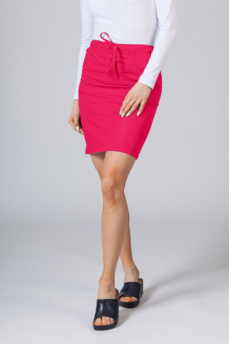 Krátká zdravotnická sukně Sunrise Uniforms malinová