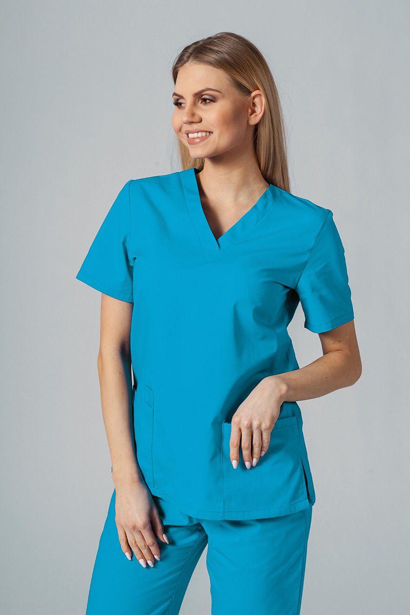 Lékařská halena Sunrise Uniforms tyrkysová promo