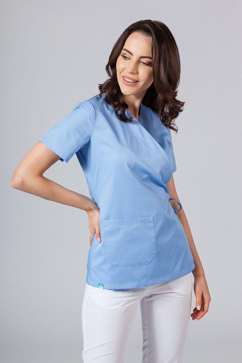 Zástěra/dámská halena s vázáním Sunrise Uniforms modrá
