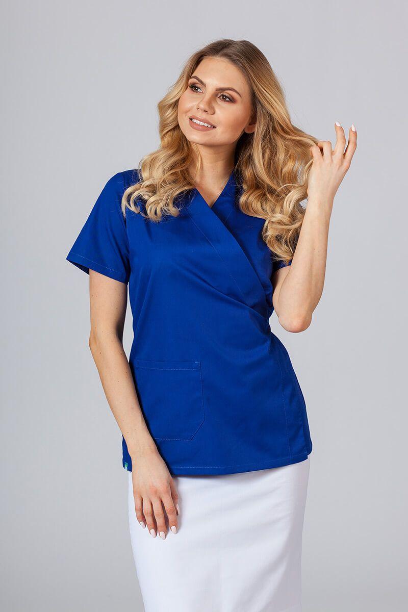 Zástěra/dámská halena s vázáním Sunrise Uniforms tmavě modrá