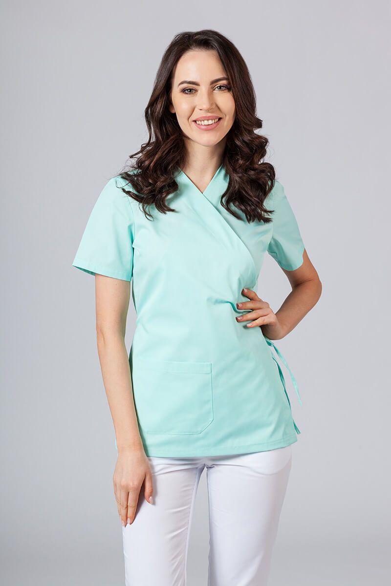 Zástěra/dámská halena s vázáním Sunrise Uniforms mátová