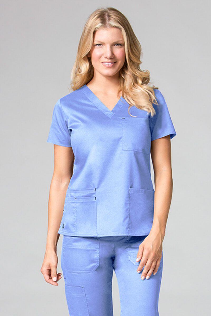 Lékařská halena Maevn Blossom (elastic) klasický modrý