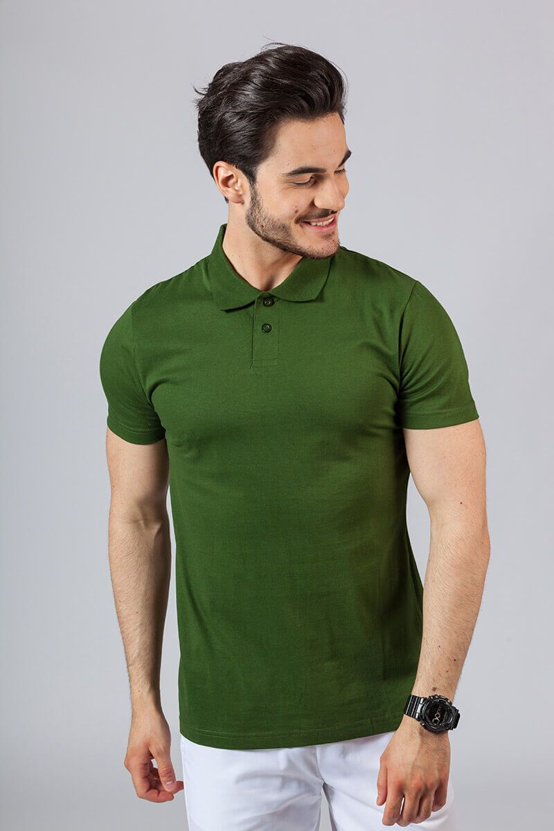 Pánské Polo tričko tmavě zelená