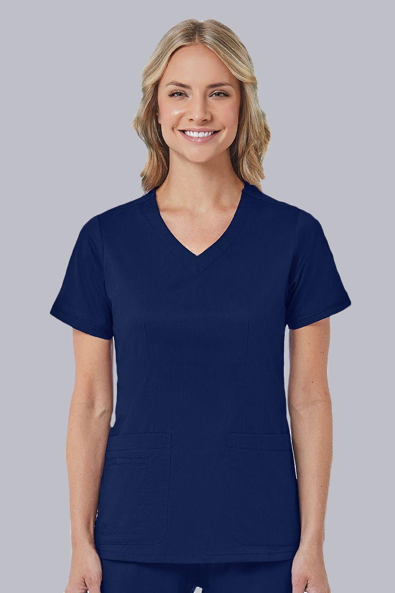 Lékařská halena Maevn Blossom (elastic) tmavě modrá