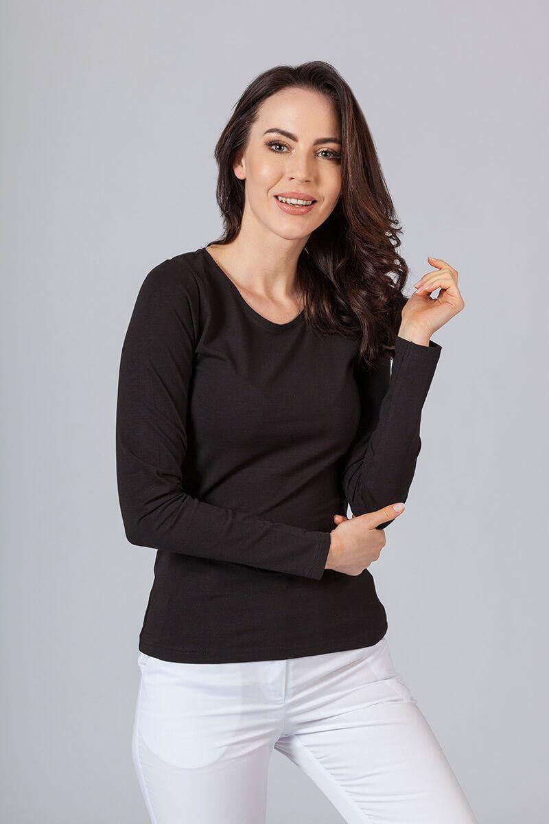 Dámské tričko s dlouhým rukávem černé