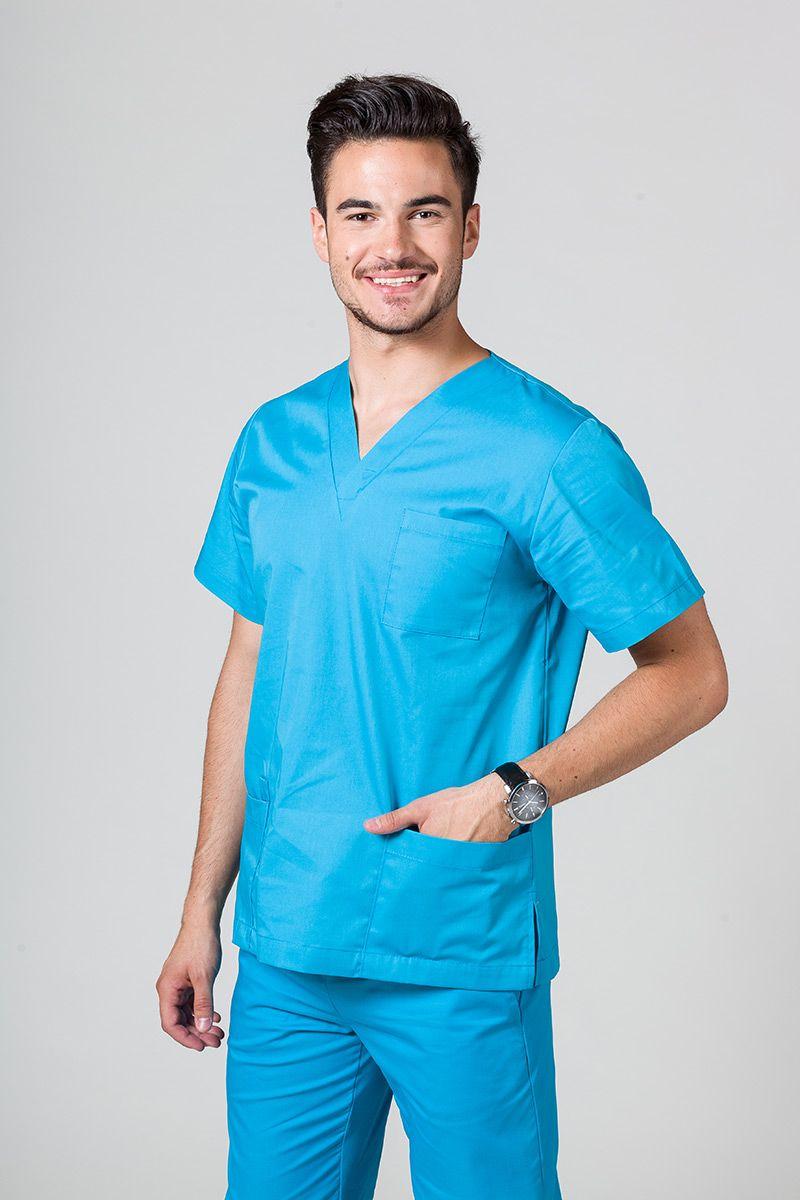 Univerzální lékařská mikina Sunrise Uniforms tyrkysová