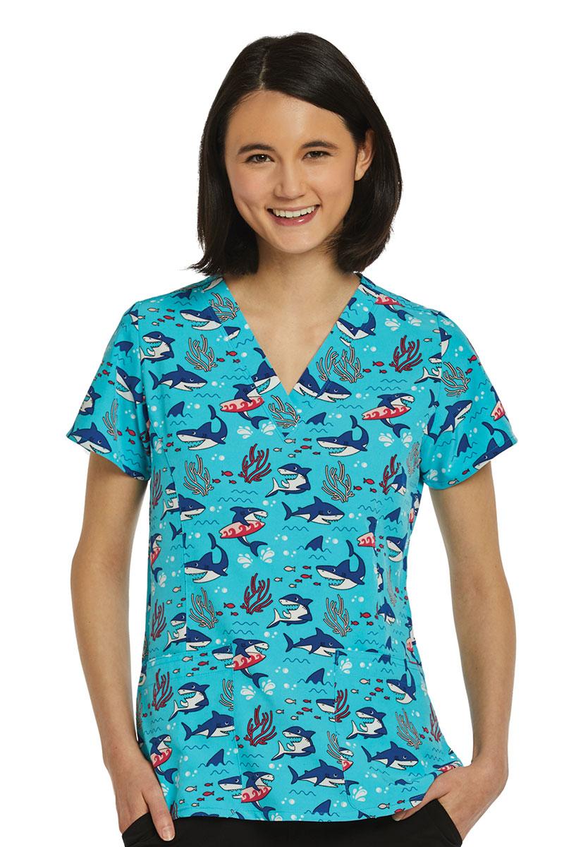 Barevná dámská halena Surfování se žraloky Maevn Prints